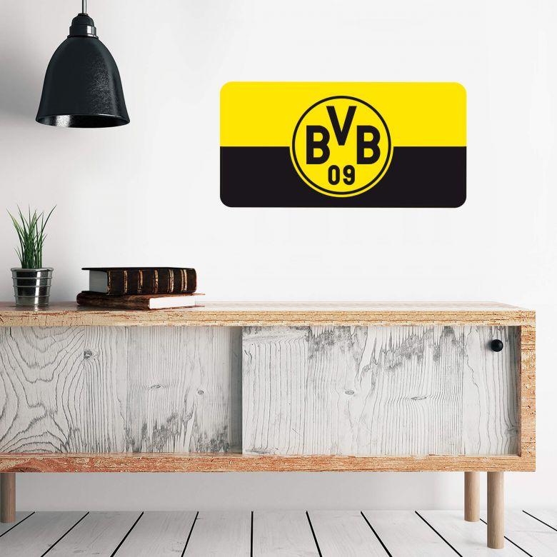 Wandtattoo Borussia Dortmund Banner gelb/schwarz