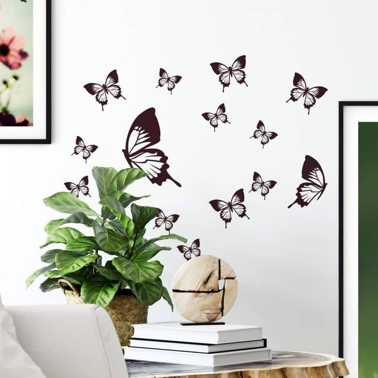 Adesivo murale - Farfalle eleganti