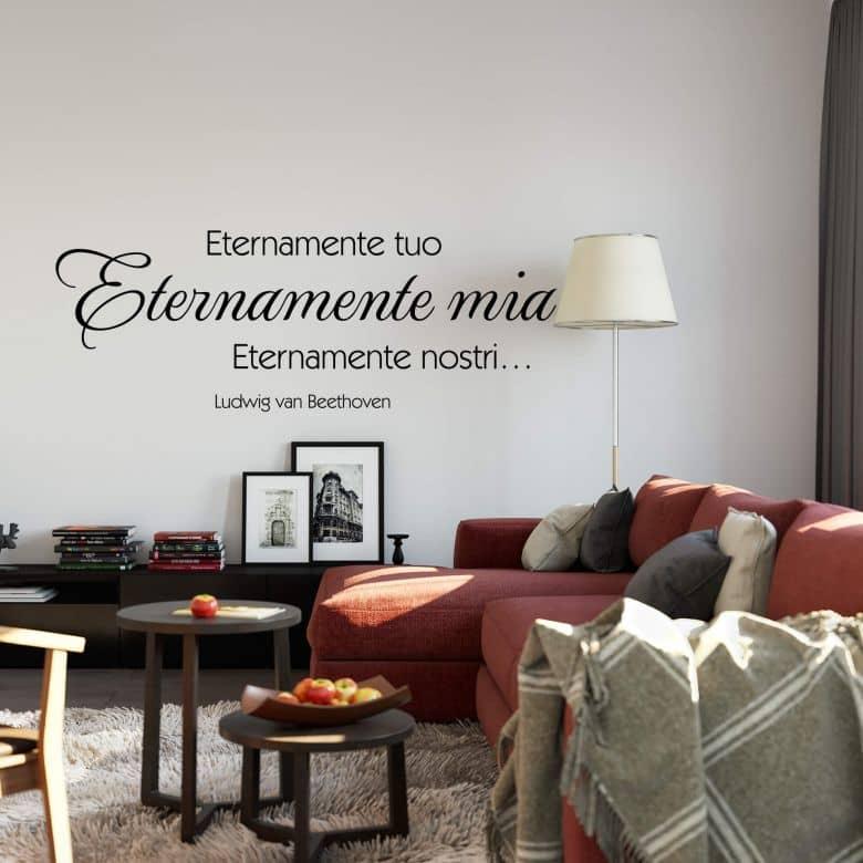 Sticker mural  Eternamente tuo, eternamente lia…