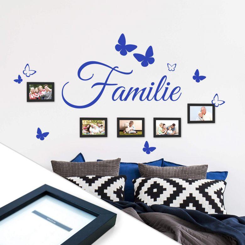 Adesivo murale Familie incl. 5 cornici