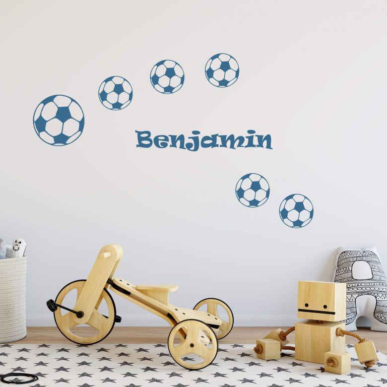 Wandtattoo Name Fussballe Schone Deko Fur Das Kinderzimmer Wall Art De