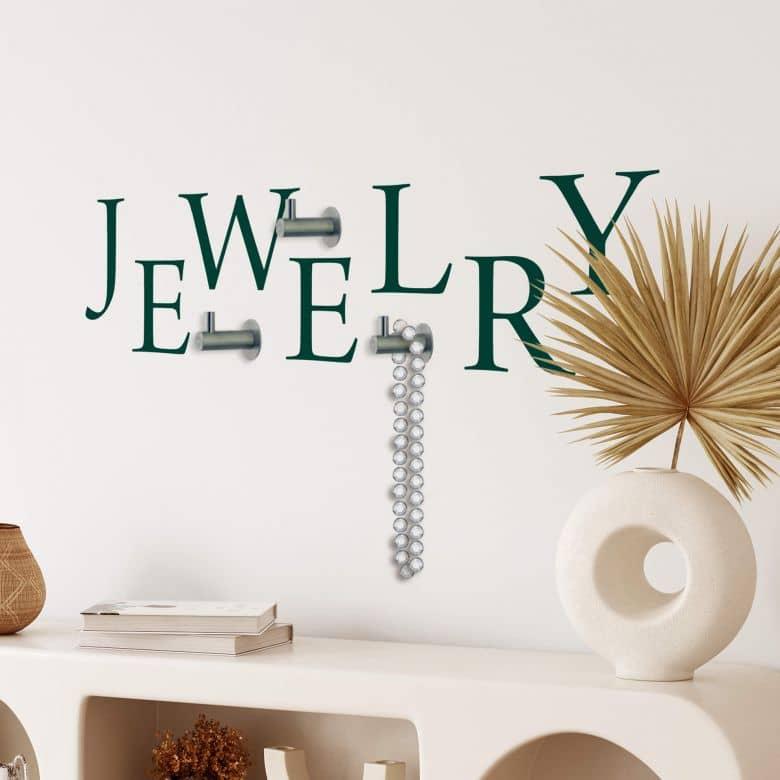 Jewelry + Hooks (incl. 3 hooks) Wall sticker
