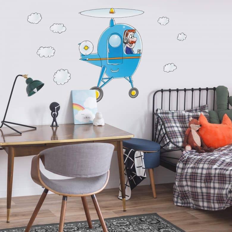 Wandtattoo Hubschrauber Helikopter Als Deko Fur Kinderzimmer Wall Art De