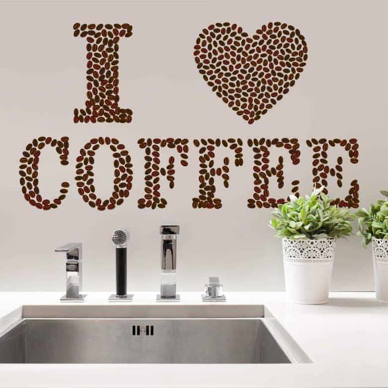 Wall sticker I love coffee