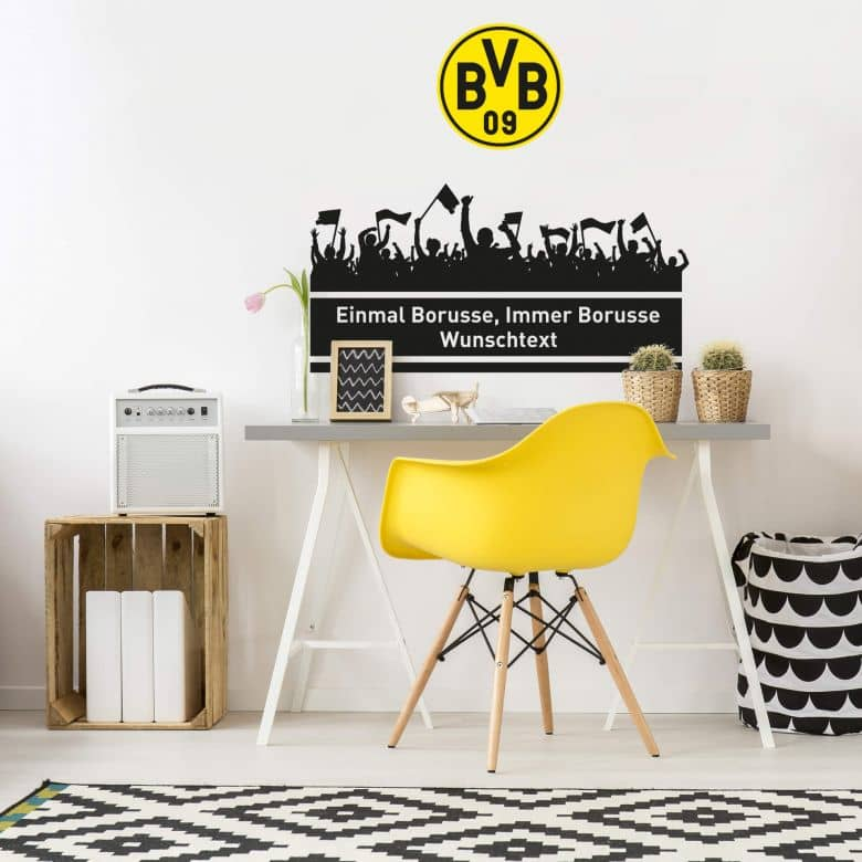 Wall sticker Immer Borusse - personalised