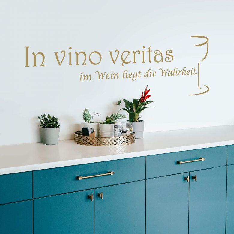 Wandtattoo In vino veritas - im Wein liegt die Wahrheit