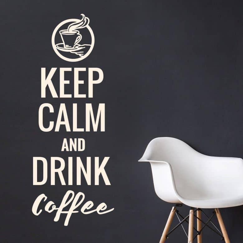 Wall sticker Keep calm and drink coffee