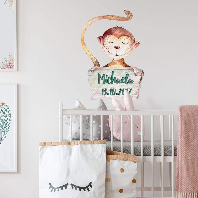 Wall sticker Kvilis - Monkey + Name