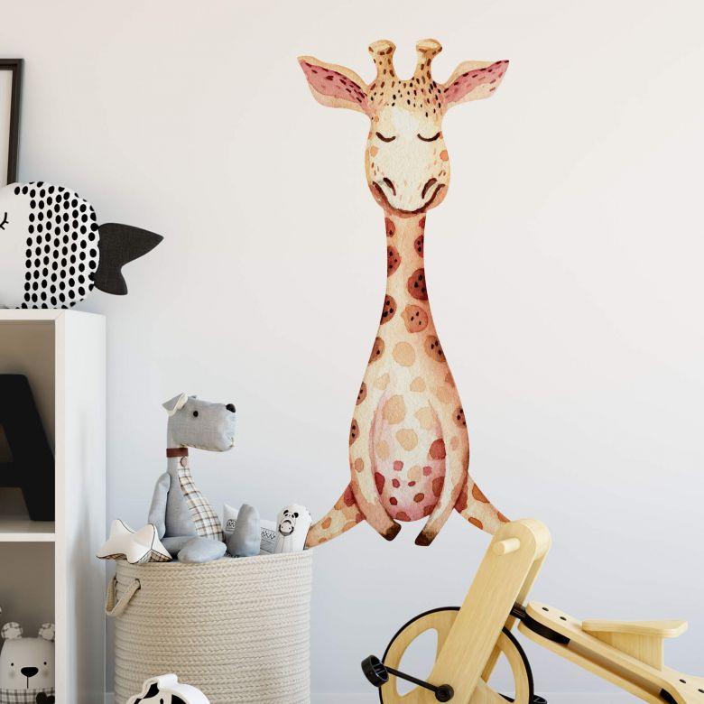 Sticker mural Kvilis - Girafon assoupi