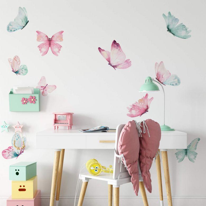 Wandtattoo Kvilis - Schmetterlingsschwarm