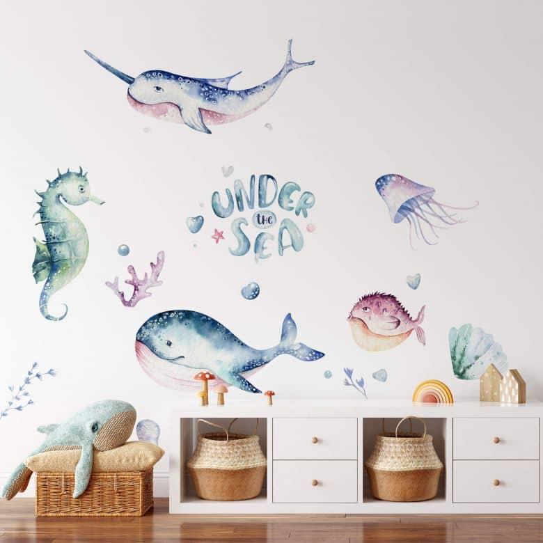 Sticker mural Kvilis - Sous la mer (34 pièces)