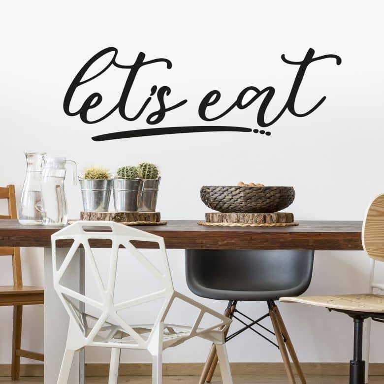Sticker mural - Let's Eat