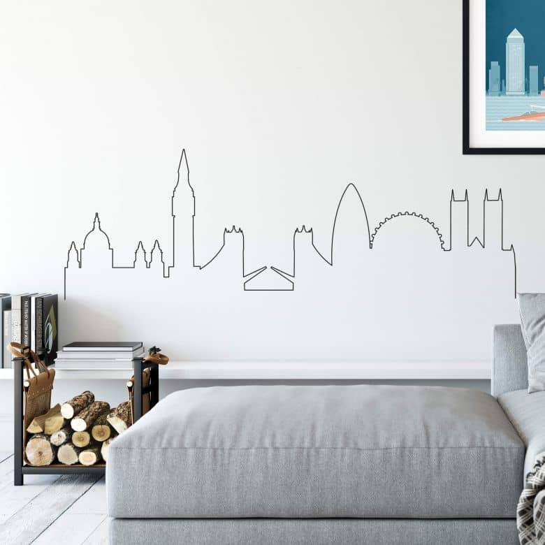 Wandtattoo London Skyline Outline