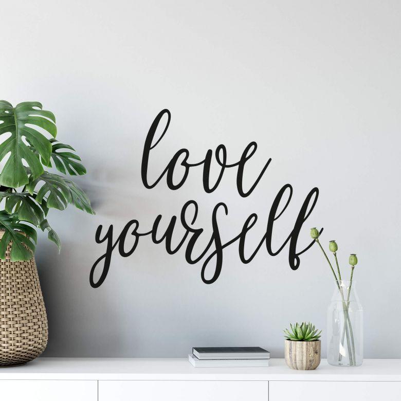 Adesivo murale - Love yourself