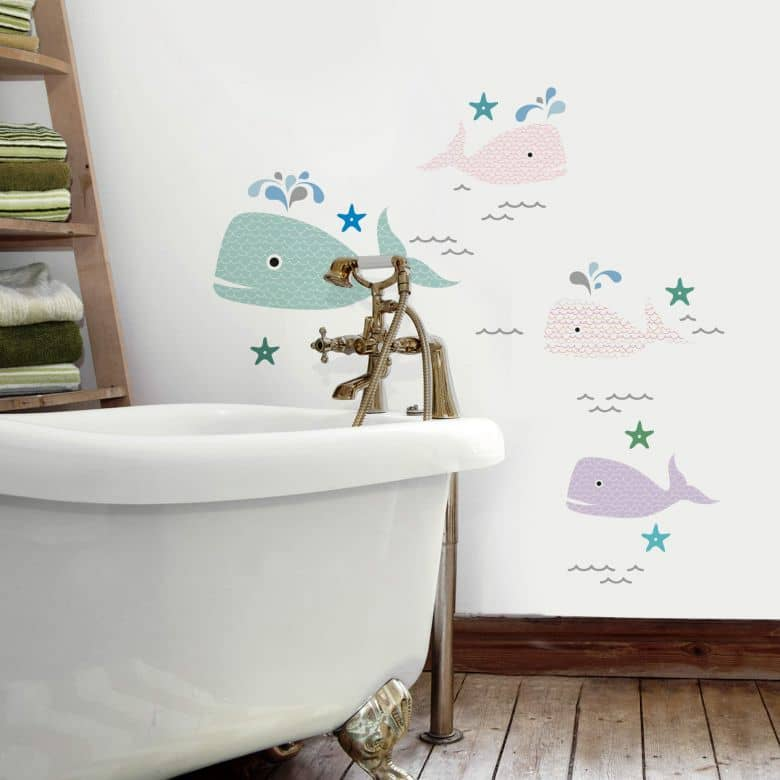 Cute Whales Wall Stickers