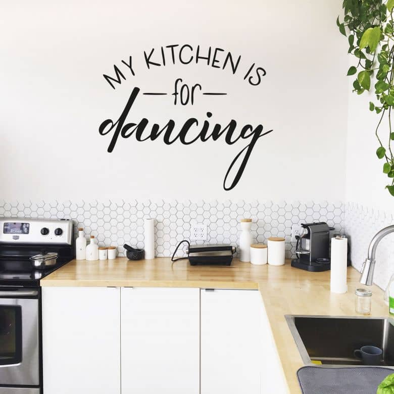 Wall sticker My Kitchen is for Dancing