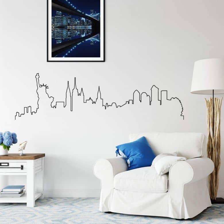 Wandtattoo New York Skyline Outline