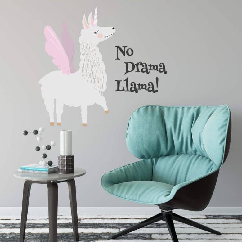 Wandtattoo -  No Drama Llama