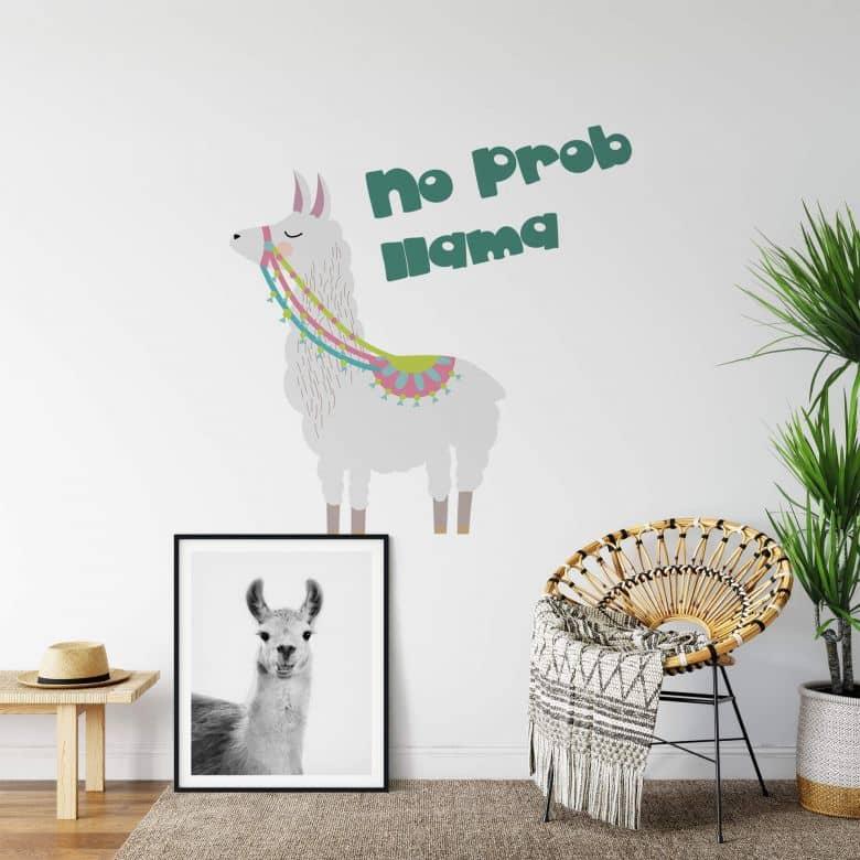 Wall sticker No Prob Llama
