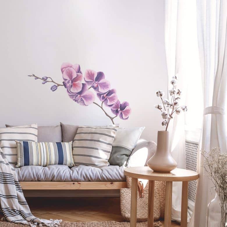 Muursticker Orchideeëntak