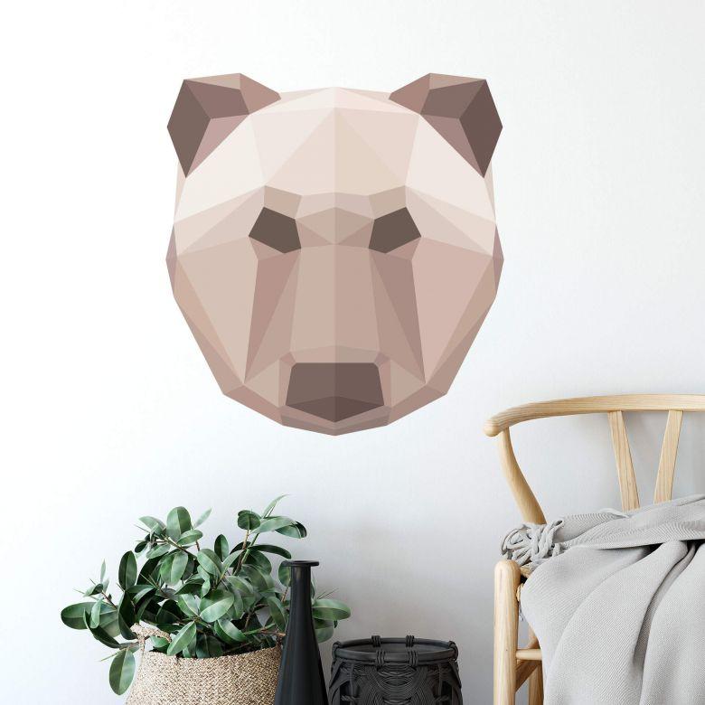 Wall sticker Bear in geometric shape