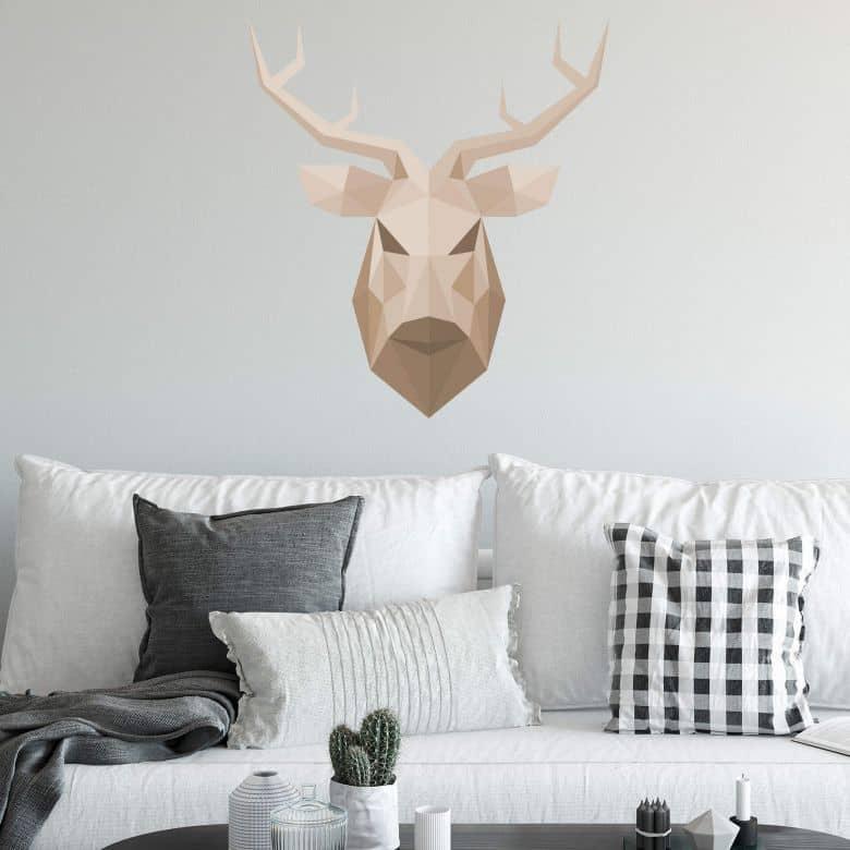 Wall sticker Deer in geometric shape