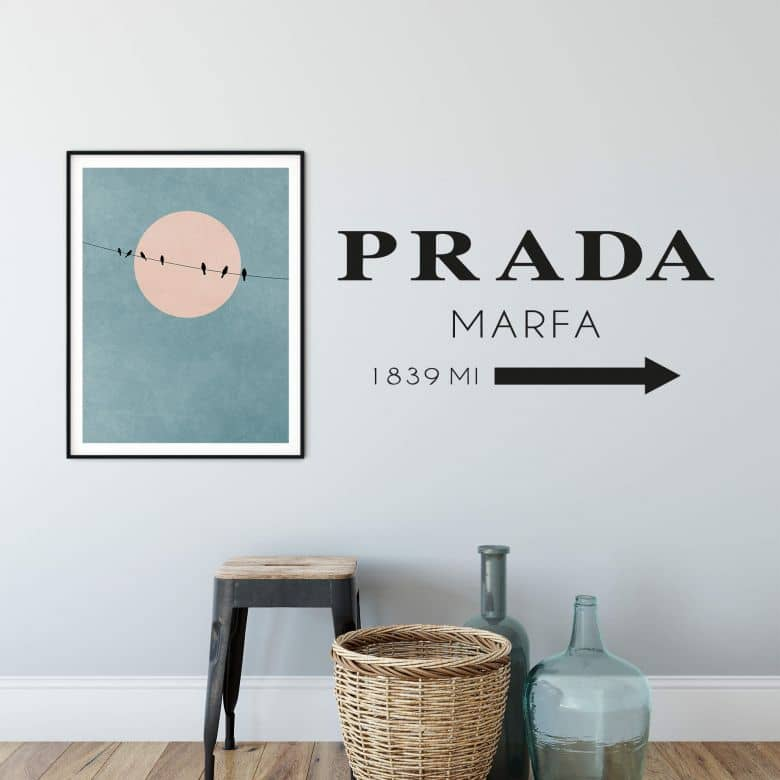 Wall sticker Prada Marfa