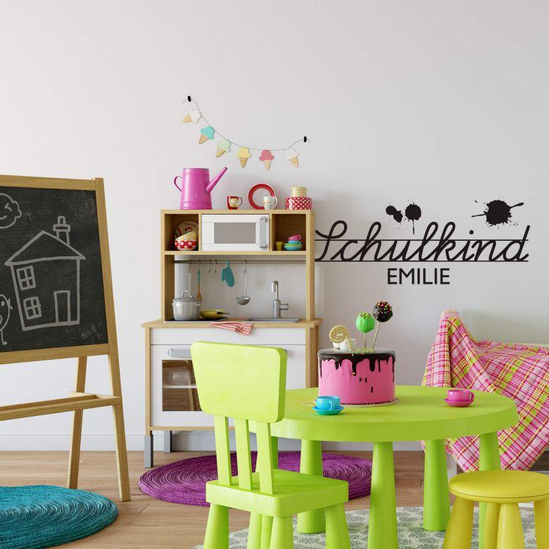 Wandtattoo + Name Schulkind