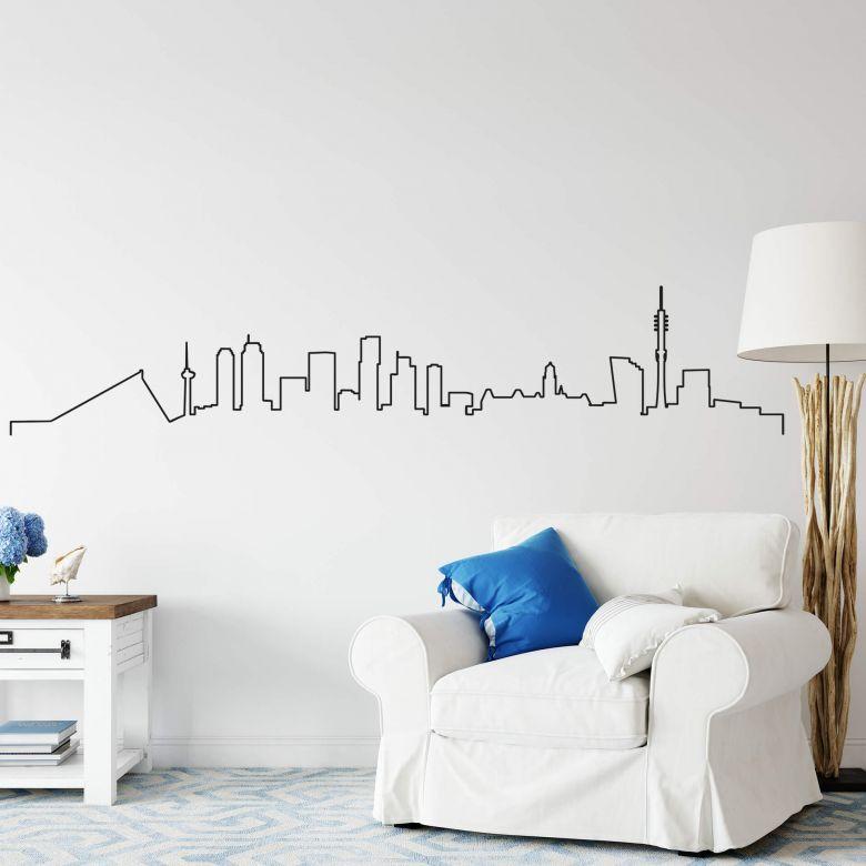 Wandtattoo Rotterdam Skyline Outline