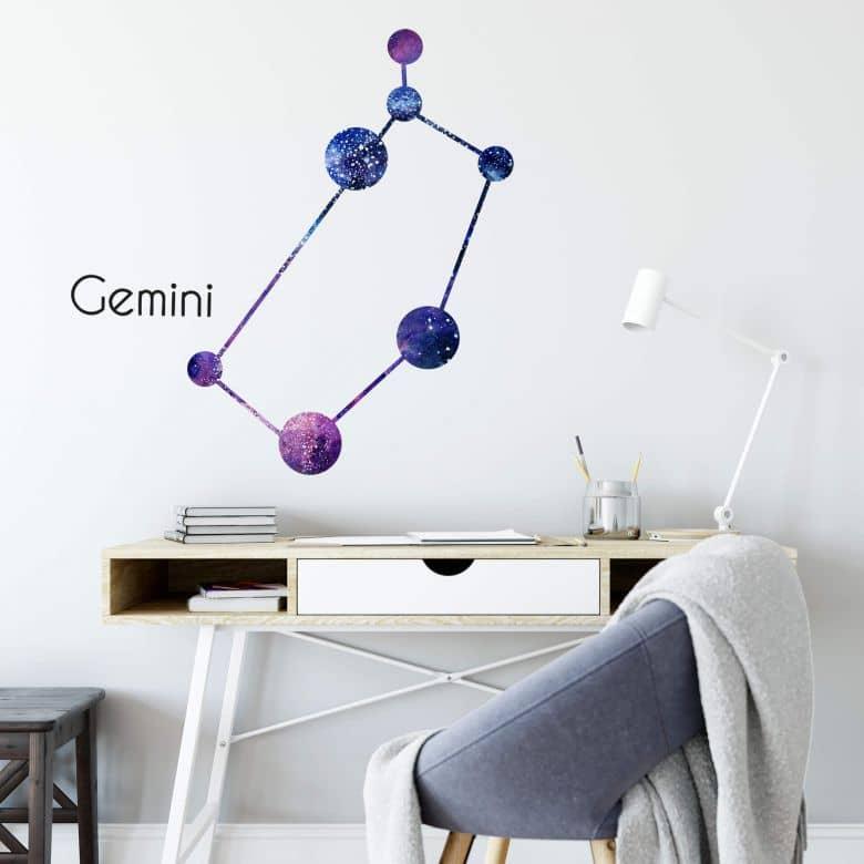 Wandtattoo Sternenbild Gemini - Zwillinge