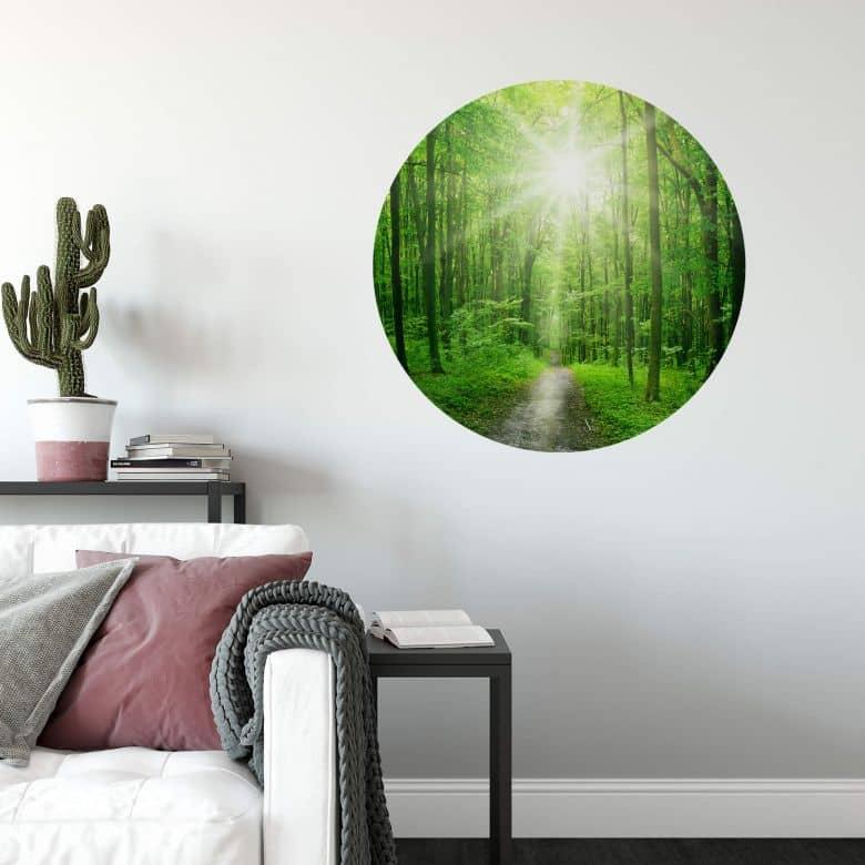 Wandtattoo Sunny Forest - Rund