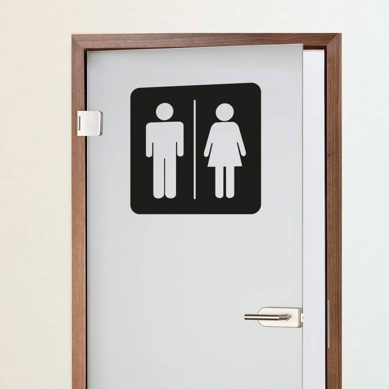 Restroom Couple 2 Wall sticker