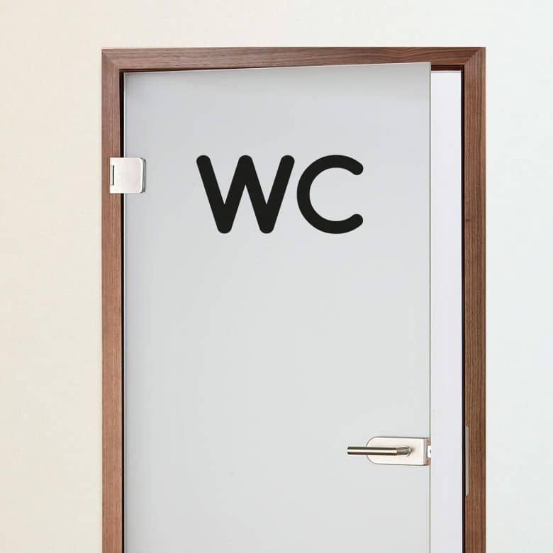 wandtattoo wc 2 elegantes wandtattoo f r das badezimmer wall. Black Bedroom Furniture Sets. Home Design Ideas