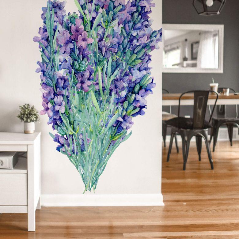 Wall sticker XXL Lavender bouquet