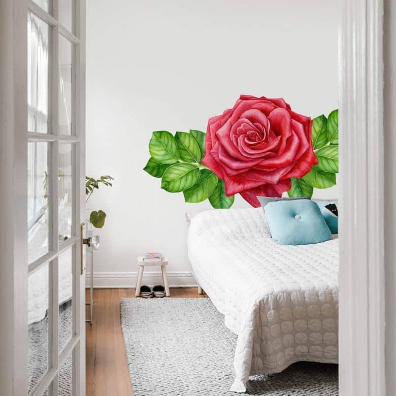 Wall sticker - Red rose XXL