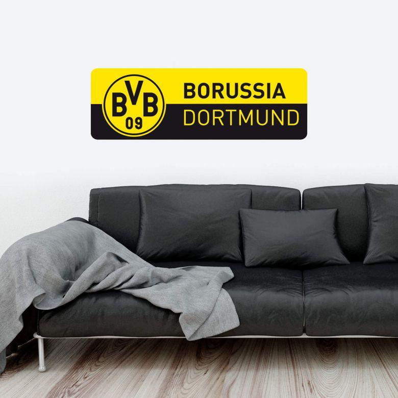 Muursticker BVB Banner geel/zwart