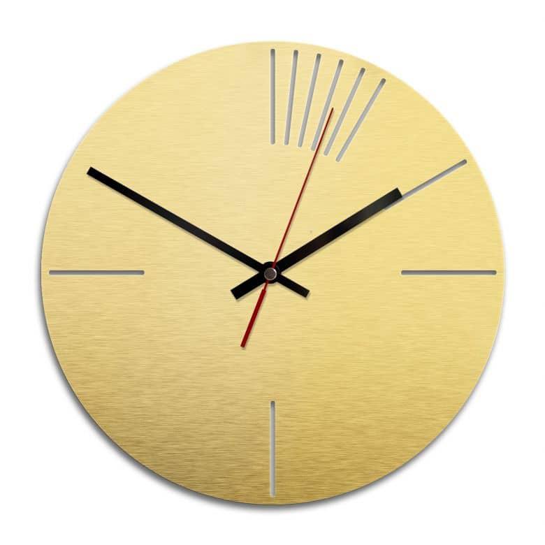 Wanduhr Alu-Dibond-Goldeffekt - Klassisch 02 - Ø 28 cm