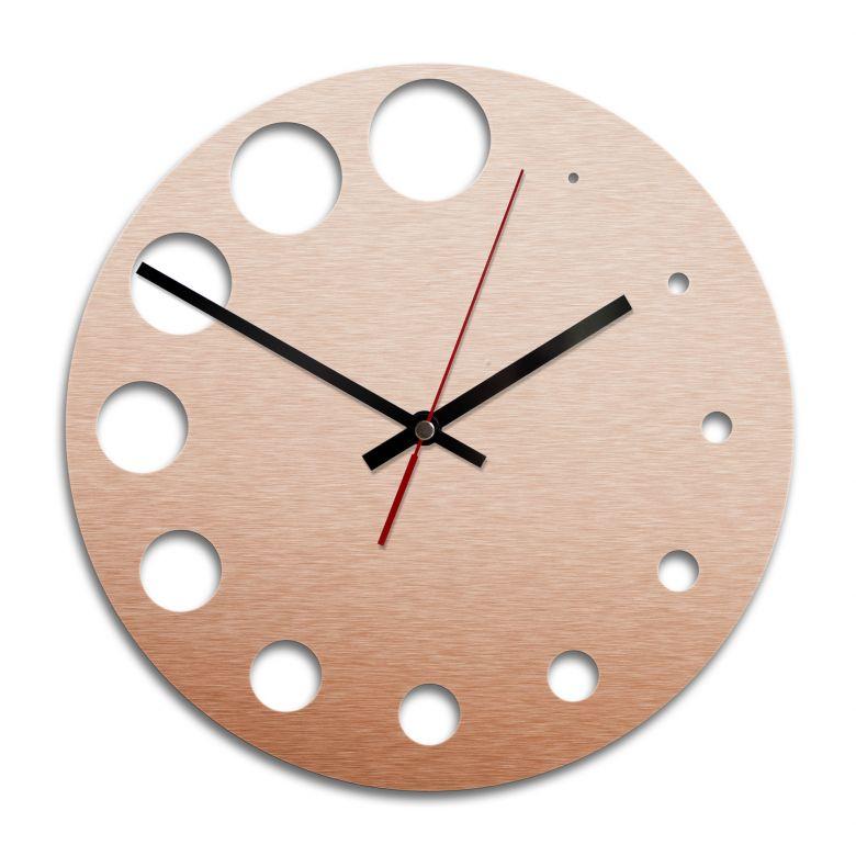 Orologio Alu-Dibond ramato - Pois