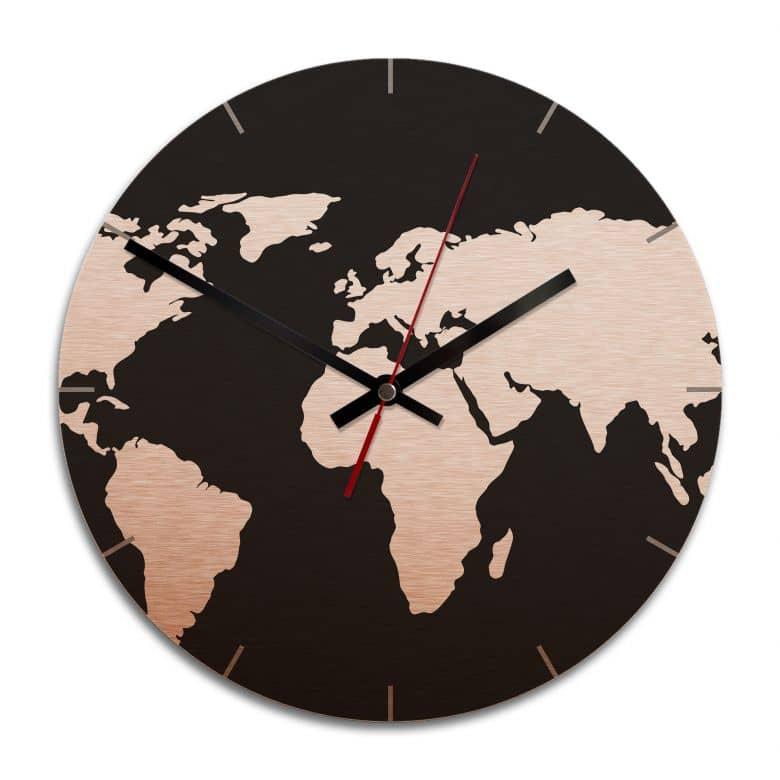 Orologio Alu-Dibond 2- Mappamondo