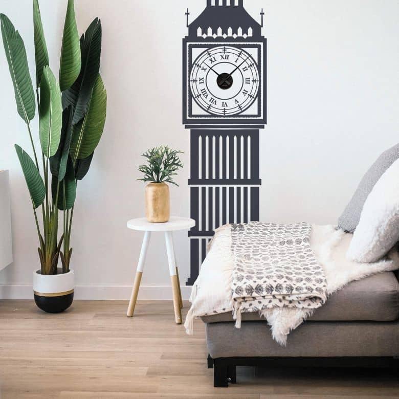 Big Ben Wall sticker + Clock