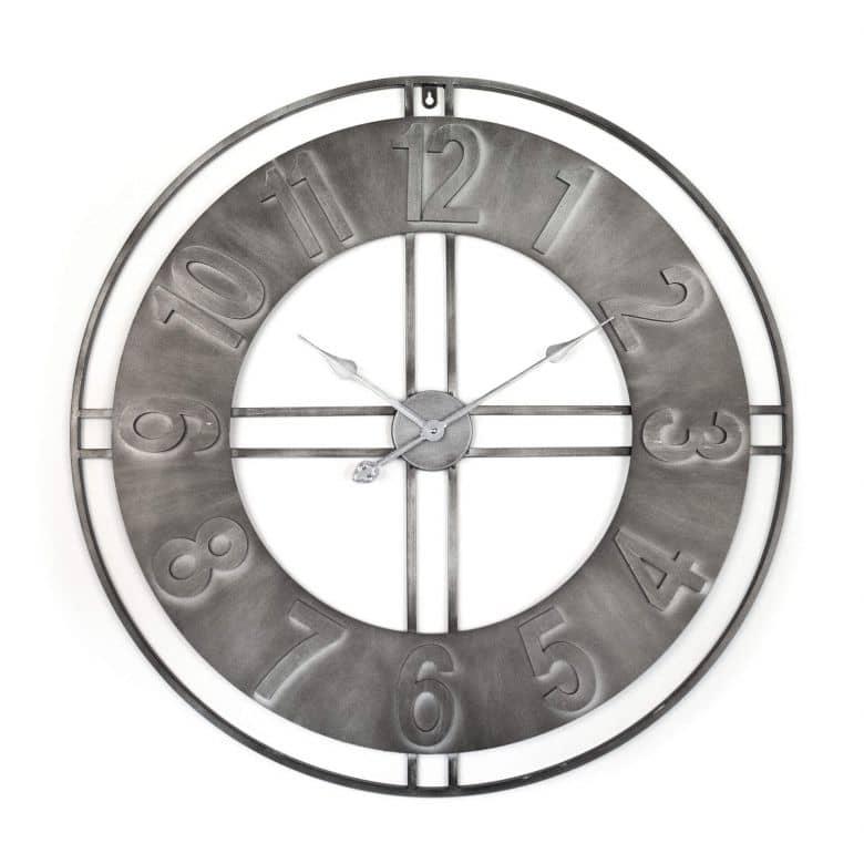 XXL Metall Wanduhr Vintage Industrial - Rund Ø80 cm