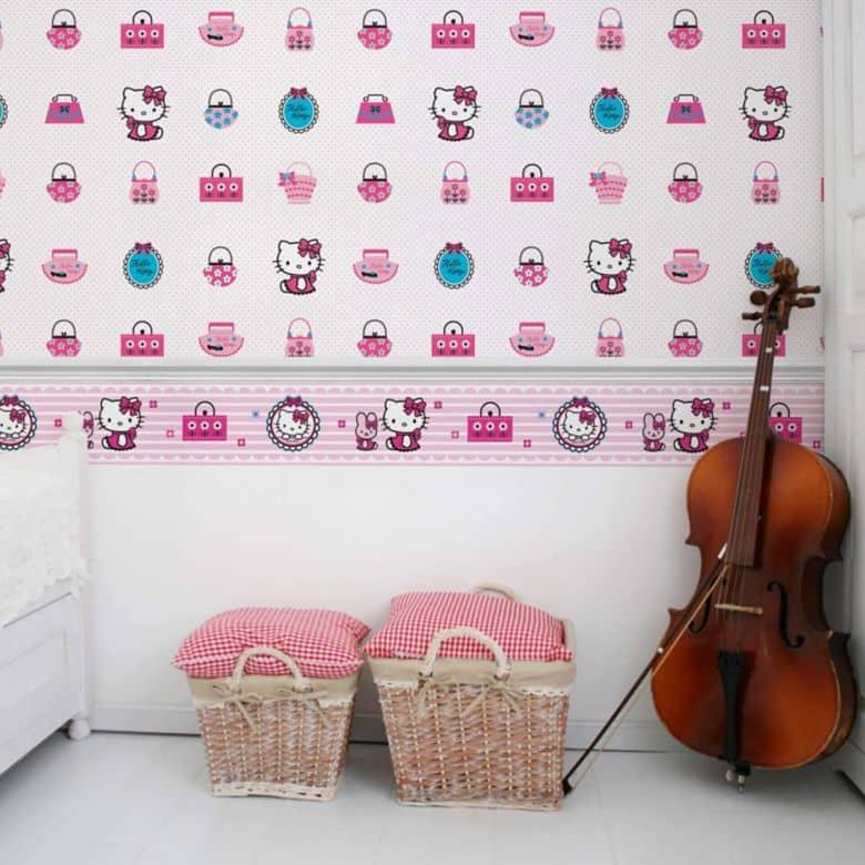 Hello Kitty Border Wall sticker