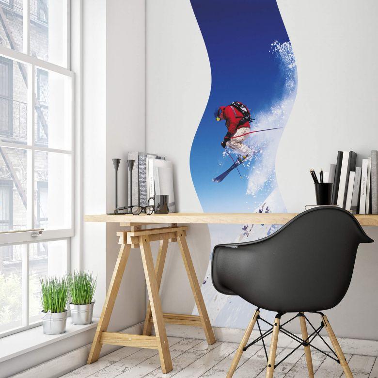 Wandtattoo Ski-Jump-Welle