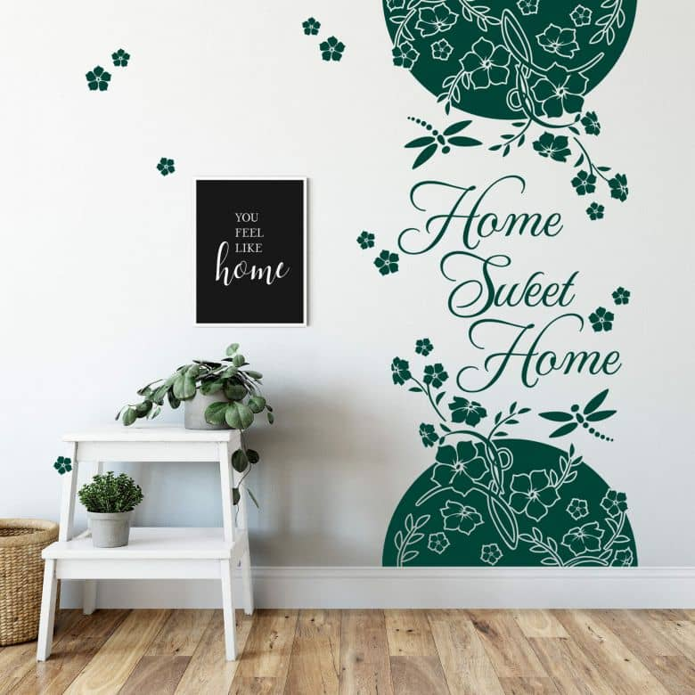 Banner Home Sweet Home Wall sticker