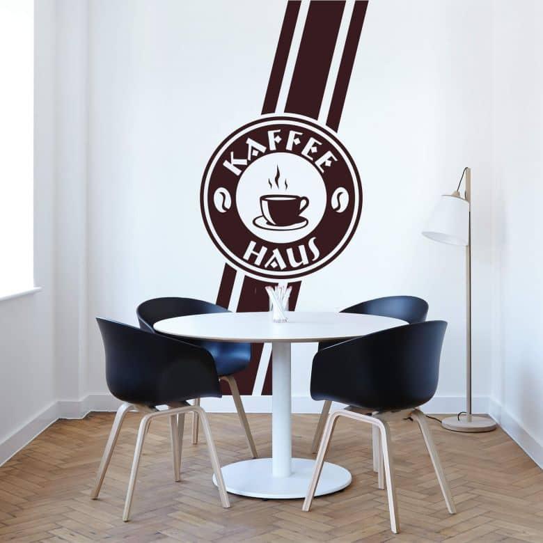 Wandtattoo Banner Kaffee Haus