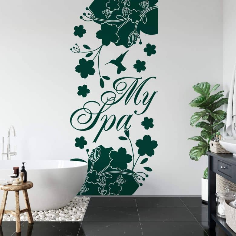Wandtattoo Banner My Spa