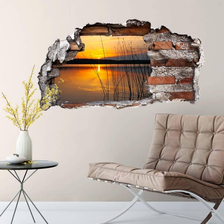 3D wall sticker sunset