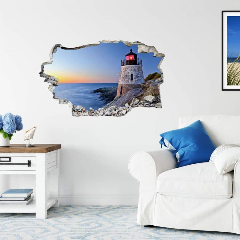 3D wall sticker On the coast