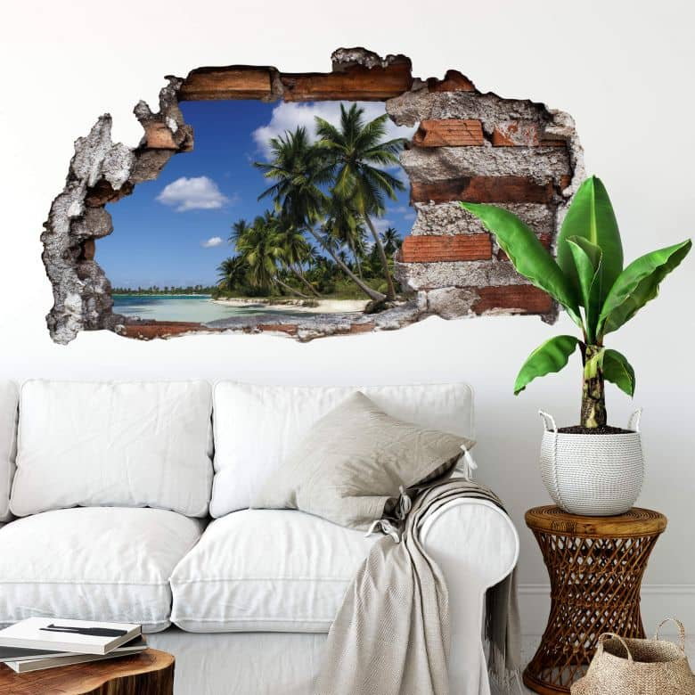 Adesivo 3D - Profumo di Caraibi