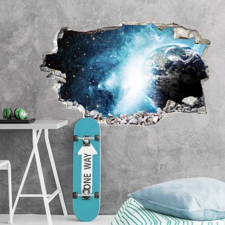 3d wall sticker in a galaxy far away